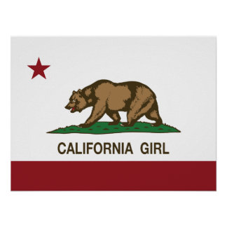 Kalifornien-Mädchen Poster