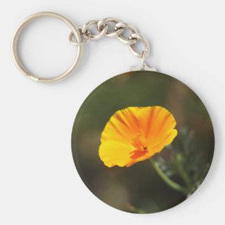Kalifornien-Mohnblume (Eschscholzia californica) Schlüsselanhänger