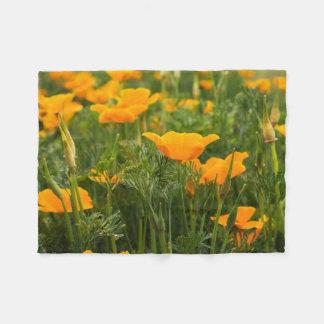 Kalifornien-Mohnblumen-Flecken-Fotografie Fleecedecke