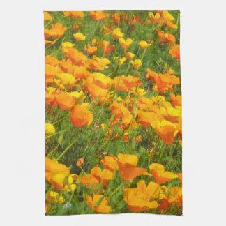 Kalifornien-Mohnblumen Handtuch
