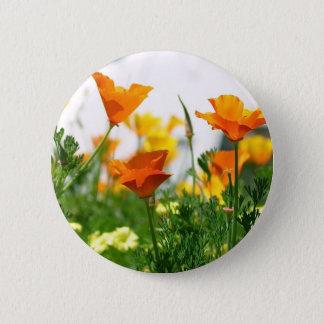 Kalifornien-Mohnblumen Runder Button 5,1 Cm