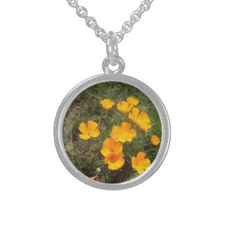 Kalifornien-Mohnblumen Sterling Silberkette