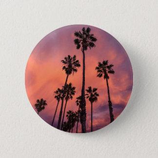 Kalifornien-Palmen Runder Button 5,7 Cm