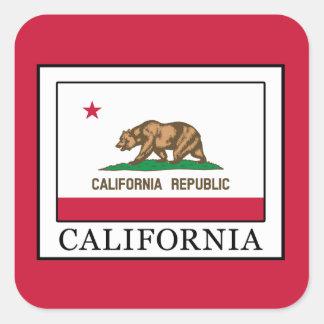 Kalifornien Quadratischer Aufkleber