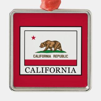 Kalifornien Quadratisches Silberfarbenes Ornament