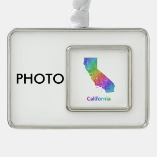 Kalifornien Rahmen-Ornament Silber