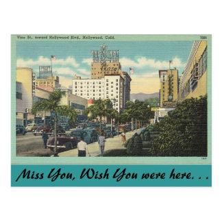 Kalifornien, Rebe-Straße, Hollywood Postkarte