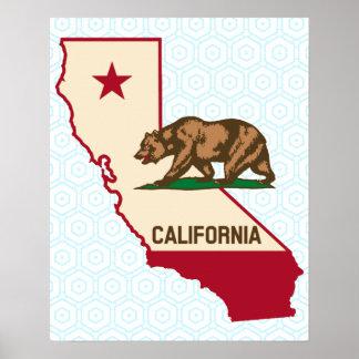 Kalifornien-Republik-Bärn-Plakat Poster