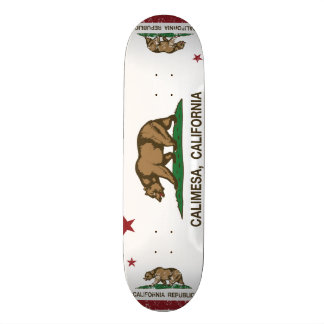 Kalifornien-Republik-Flagge Calimesa Personalisierte Skatedecks