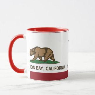 Kalifornien-Republik-Flagge Half Moon Bay Tasse