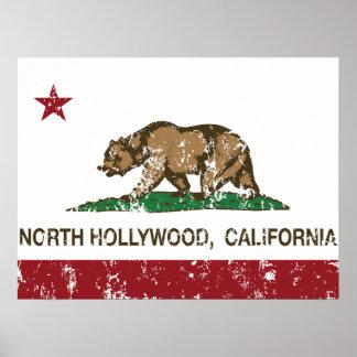 Kalifornien-Republik-Flagge NordHollywood Poster