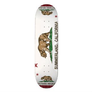 Kalifornien-Republik-Flagge Summerland 18,1 Cm Old School Skateboard Deck