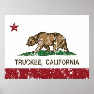 Kalifornien-Republik-Flagge Truckee Poster