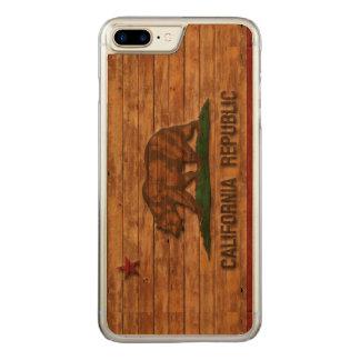 Kalifornien-Republik-Flagge Vintag Carved iPhone 8 Plus/7 Plus Hülle