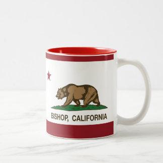 Kalifornien-Republik-Flaggen-Bischof Zweifarbige Tasse