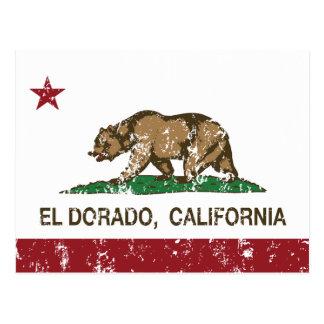 Kalifornien-Republik-Flaggen-EL Dorado Postkarte