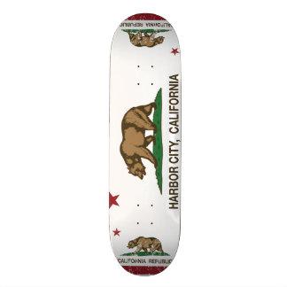 Kalifornien-Republik-Flaggen-Hafen-Stadt Skate Board
