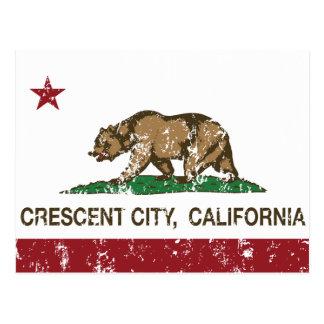 Kalifornien-Republik-Flaggen-Halbmond-Stadt Postkarte