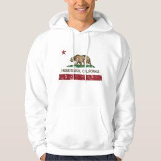 Kalifornien-Republik-Flaggen-Moos-Strand Kapuzenpullover