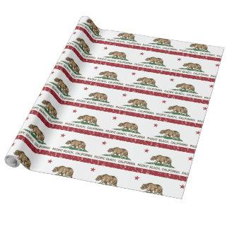 Kalifornien-Republik-Flaggen-Pazifik-Strand Geschenkpapier
