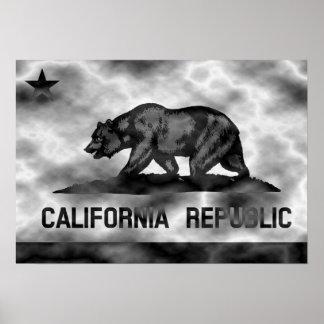 Kalifornien-Republik-Flaggen-Plasma Poster