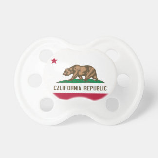 Kalifornien-Republik-Flaggen-Schnuller Schnuller