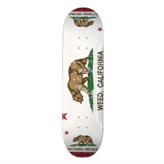 Kalifornien-Republik-Flaggen-Unkraut Bedruckte Skateboarddecks