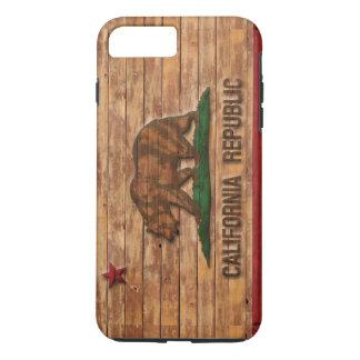 Kalifornien-Republik-Flaggen-Vintager hölzerner iPhone 8 Plus/7 Plus Hülle