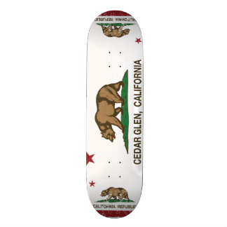 Kalifornien-Republik-Flaggen-Zedern-Schlucht 18,1 Cm Old School Skateboard Deck