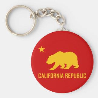 Kalifornien-Republik Keychain Schlüsselanhänger