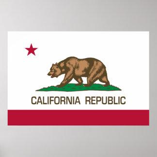 Kalifornien-Republik (Staats-Flagge) Poster