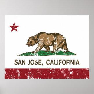 Kalifornien-Republik-Staatsflagge San Jose Poster
