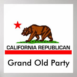 Kalifornien-Republikaner Poster