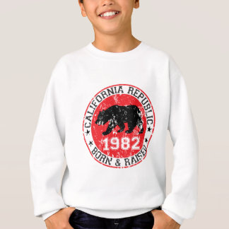 Kalifornien-Republikgeborenes angehoben 1980 Sweatshirt