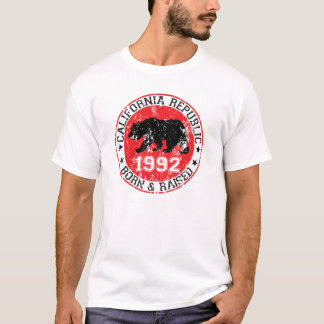 Kalifornien-Republikgeborenes angehoben 1992 T-Shirt