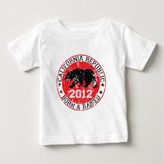 Kalifornien-Republikgeborenes angehoben 2012 Baby T-shirt