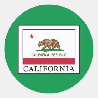 Kalifornien Runder Aufkleber