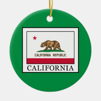 Kalifornien Rundes Keramik Ornament
