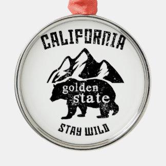Kalifornien Silbernes Ornament