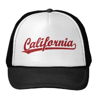 Kalifornien-Skriptlogo-Skriptlogo im Rot Netzmütze