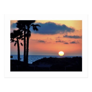 Kalifornien-Sonnenuntergang an Oxnard Postkarte