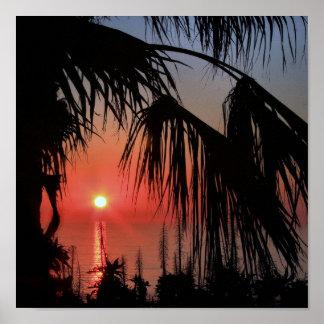 Kalifornien-Sonnenuntergang Poster