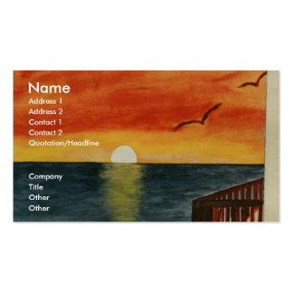 Kalifornien-Sonnenuntergang über der Visitenkartenvorlagen