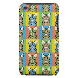 Kalifornien Spangled Katzen-Cartoon Pop-Kunst iPod Case-Mate Hüllen