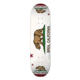 Kalifornien-Staats-Flagge Brea Individuelle Skateboarddecks