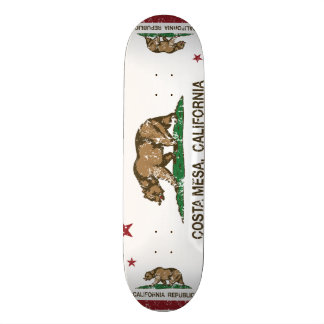 Kalifornien-Staats-Flagge Costa Mesa Individuelle Skateboarddecks