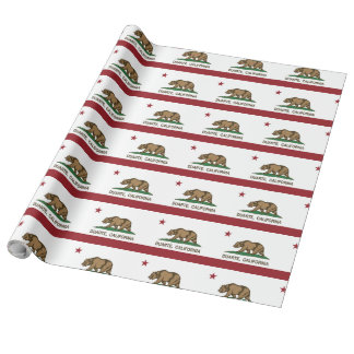 Kalifornien-Staats-Flagge Duarte Geschenkpapier