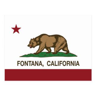 Kalifornien-Staats-Flagge Fontana Postkarte