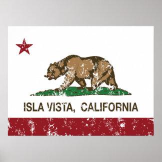 Kalifornien-Staats-Flagge Isla Vista Poster