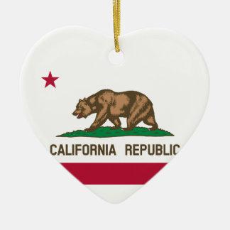 Kalifornien-Staats-Flagge Keramik Ornament